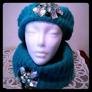 Betsey Johnson Snood and Hat